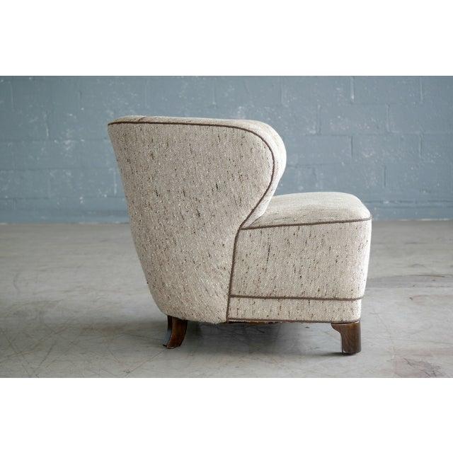 Viggo Boesen Attributed Danish Modern Lounge Chair 1940s - Image 6 of 11
