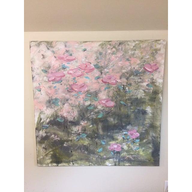 """True Colors"" Original Acrylic Flower Painting - Image 2 of 4"