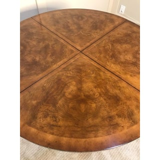 Traditional Theodore Alexander Walnut Burl & Cherry, Tooled Leather Dual Function Game Table Preview