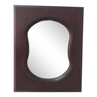 Early 20th Century Italian Hourglass Wood Mirror For Sale