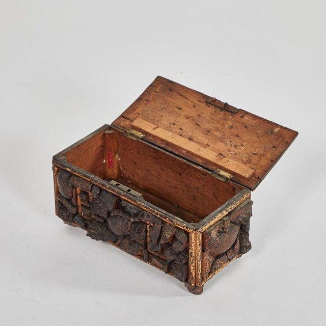 A naive box, originating in France, circa 1840.