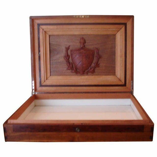 Treasure--Cuban Wood Cigar Humidor Cuba's Coat of Arms- circa 1940---Provenance For Sale - Image 9 of 9