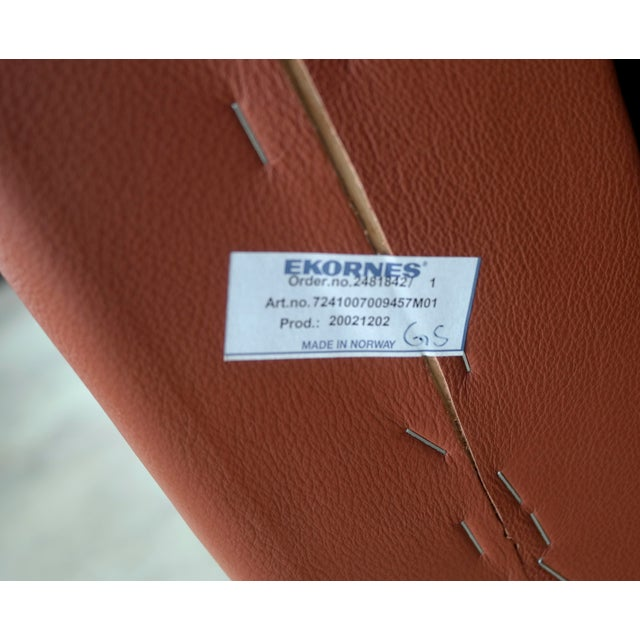 Danish Mid Century Modern Sofa in Brown Leather For Sale - Image 9 of 9