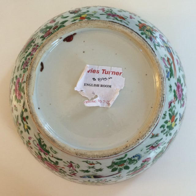 Chinese Export Famille Rose Bowl For Sale In Charlotte - Image 6 of 7