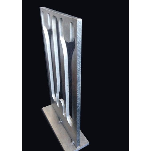 Aluminum Industrial Sculpture - Image 3 of 3