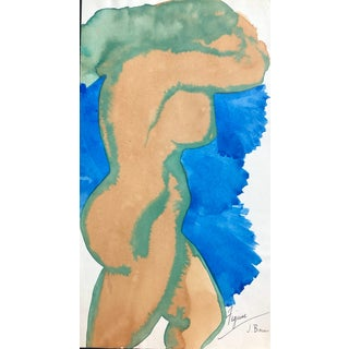Mid-Century Female Nude by James Bone - 1950s For Sale