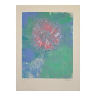 """Arthur Krakower """"A Flower"""" Monoprint C.2004 For Sale"""