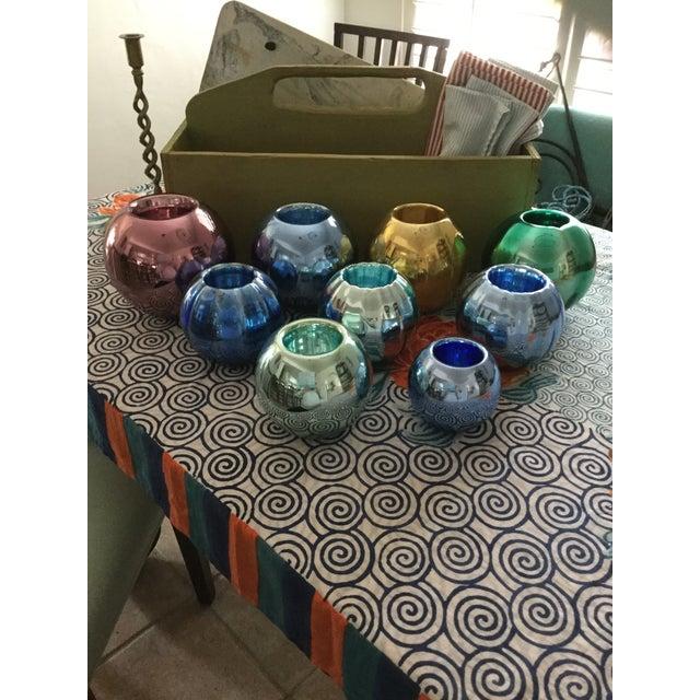 Vintage Czech Mercury Glass Vases - Set of 9 For Sale - Image 12 of 12