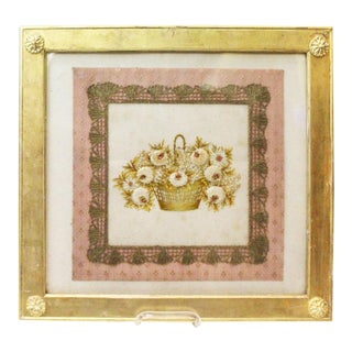 Gilded Thread Framed Embroidery For Sale