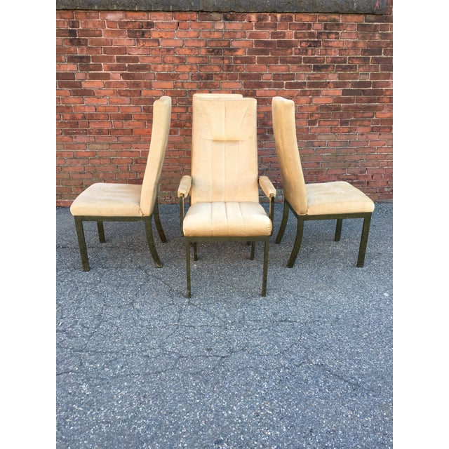 Milo Baughman Style Highback Chromcraft Dining Chairs - Set of 4 For Sale - Image 10 of 10