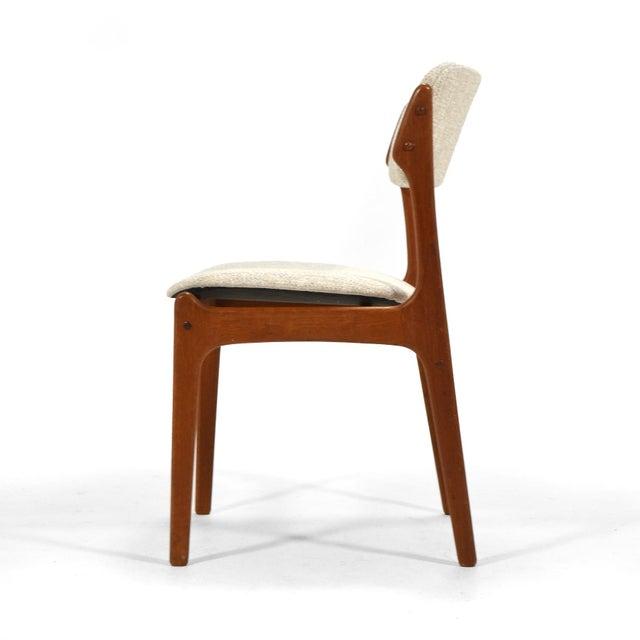 "Erik Buch Erik Buch ""Model 49"" Teak Dining Chairs Set of Ten For Sale - Image 4 of 8"