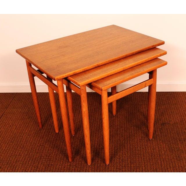 Swedish Teak Nesting Tables Set Of 3 Chairish