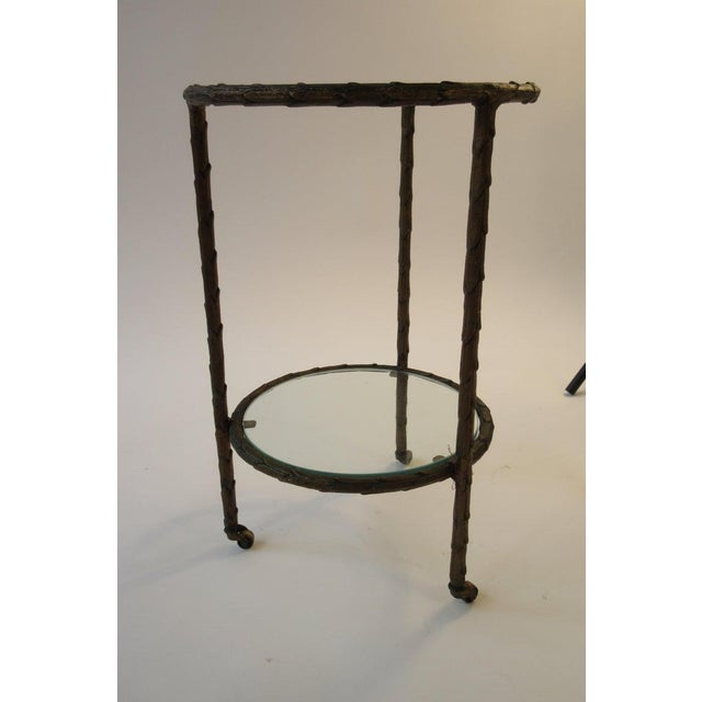 1950s Baguès Bronze Circular Nesting Tables For Sale - Image 10 of 13