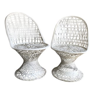 Mid-Century Modern Russell Woodard Spun Fiberglass Patio Chairs - Set of 2 For Sale