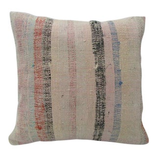 Striped Pink Kilim Pillow For Sale