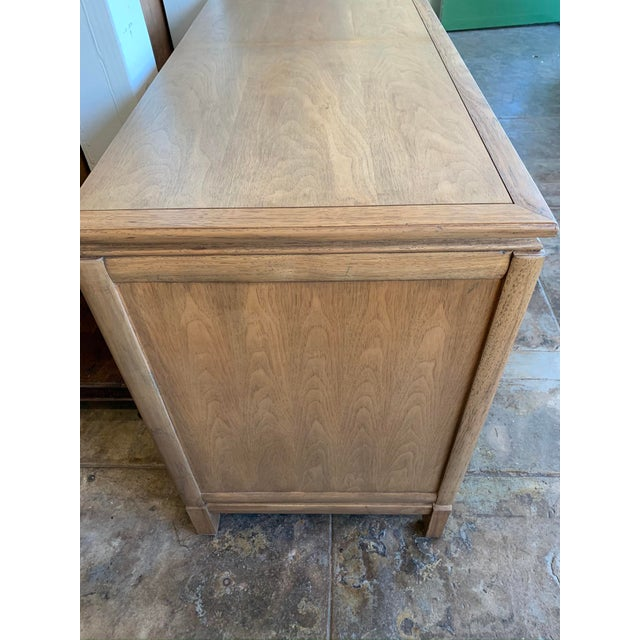 Chestnut Mid Century Modern - Thomasville Large Oak Credenza For Sale - Image 8 of 10