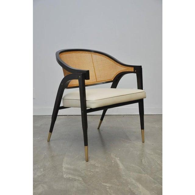 Mid-Century Modern Captain Armchair by Edward Wormley for Dunbar For Sale - Image 3 of 7