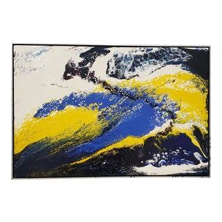 Richard Mann (American, 20th C.) Abstract Expressionist Acrylic Painting C.1970s For Sale