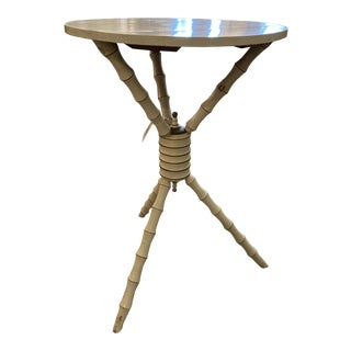 1800's 3 Legged Round Gueridon Table For Sale