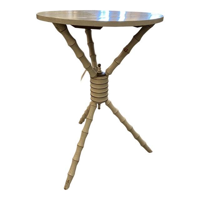 1800's 3 Legged Round Gueridon Table For Sale