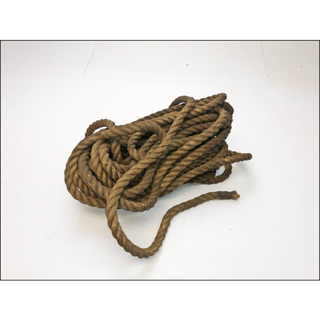 Vintage Nautical Woven Hemp Rope For Sale - Image 11 of 11