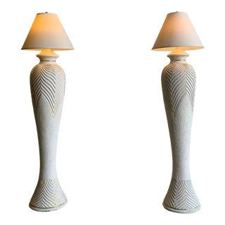 1980s Ceramic Textured Floor Lamp- Single For Sale