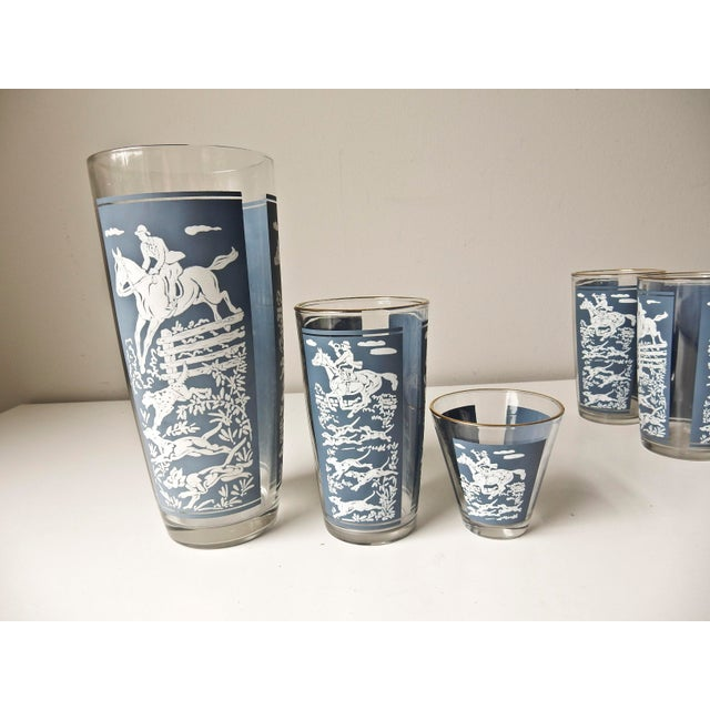 Glass Vintage Cocktail Shaker and Glasses Set - Set of 11 For Sale - Image 7 of 10