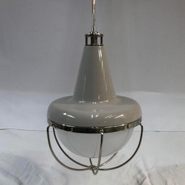 Feiss Livingston 1-Light Caged Ceiling Pendant For Sale - Image 13 of 13