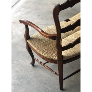 Farmhouse Double Rush Seat Settee Preview
