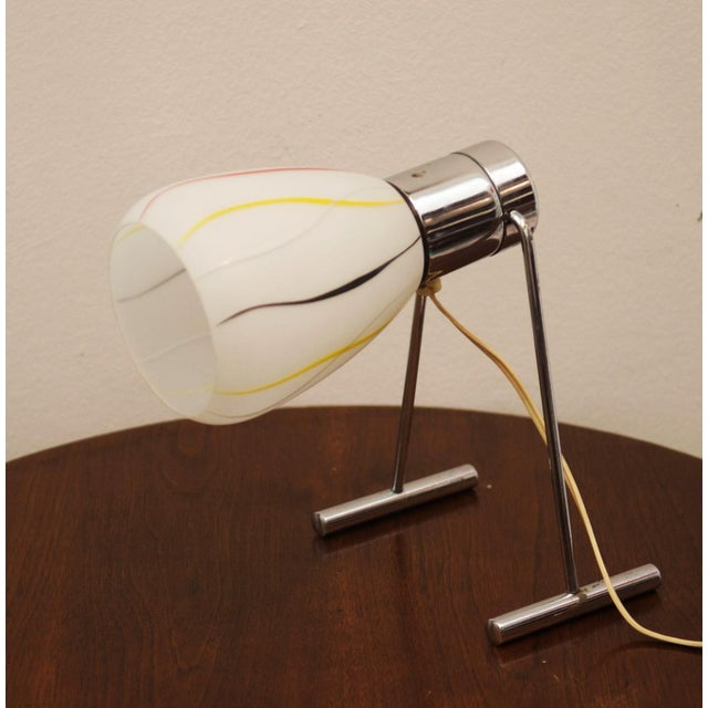 Mid-Century Opaline Glass Table Lamp, 1950s For Sale - Image 9 of 9