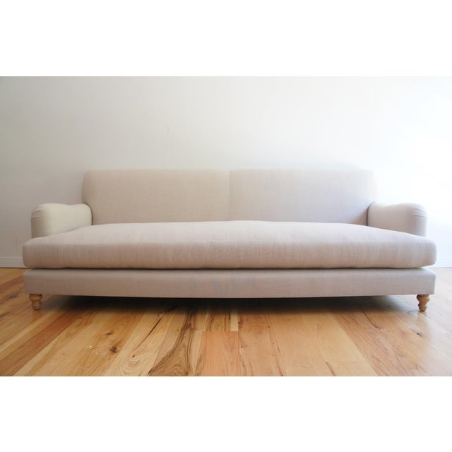 Custom Roll Arm Sofa With Modern Lines - Image 2 of 11