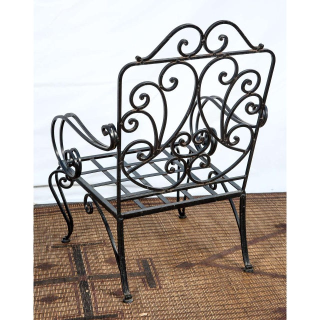Pair of Iron French Armchairs in the Style of j.c. Moreux For Sale In Los Angeles - Image 6 of 10
