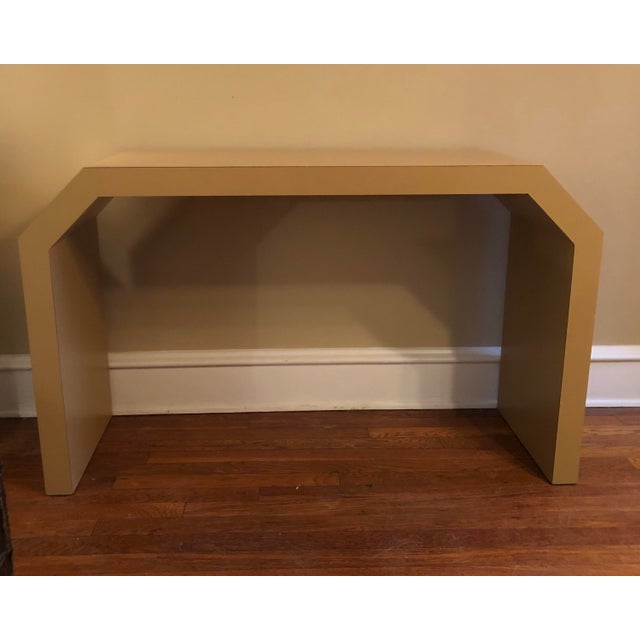 Modern Sculptural Console Table For Sale - Image 3 of 8