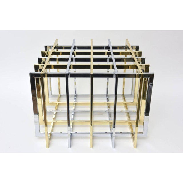 Pierre Cardin Sculptural Grid or Puzzle Side Table - Image 2 of 10