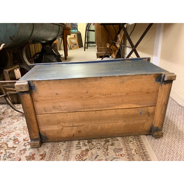 20th Century French Provincial Painted Pine Truck For Sale - Image 12 of 13