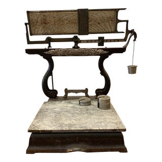 19th C. Large Cast Iron Scale For Sale