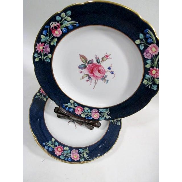 Antique Spode Copeland Billingsley Pink Rose Luncheon Plates - Set of 8 For Sale In Denver - Image 6 of 8