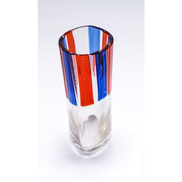 Carlo Moretti Carlo Moretti Murano Aventurine Glass Vase For Sale - Image 4 of 6