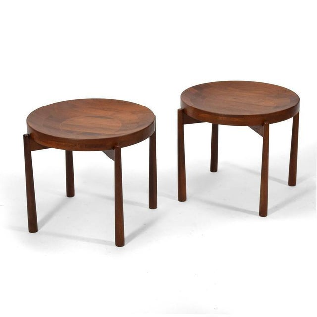 Swedish Solid Teak Flip-Top Tables in the Manner of Jens Quistgaard For Sale - Image 4 of 11