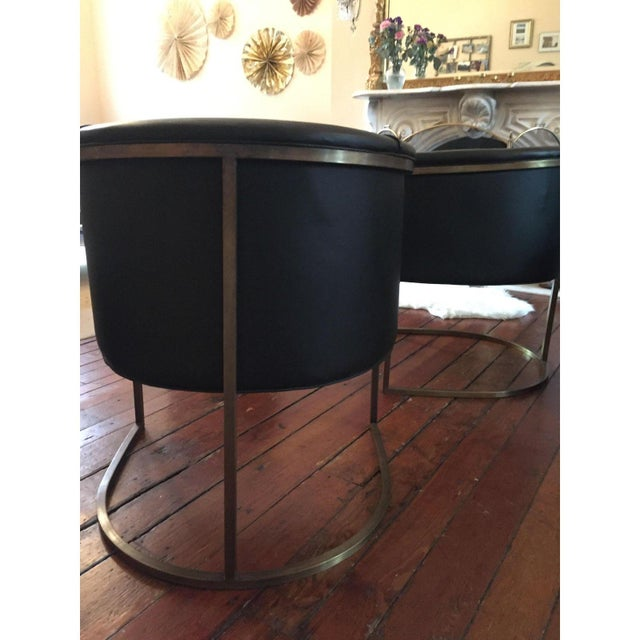 Lee Industries Black Modern Chairs - A Pair - Image 3 of 3