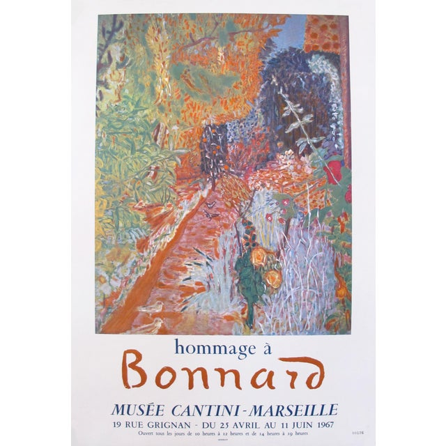 1967 French Exhibition Poster, Hommage a Pierre Bonnard - Image 1 of 3