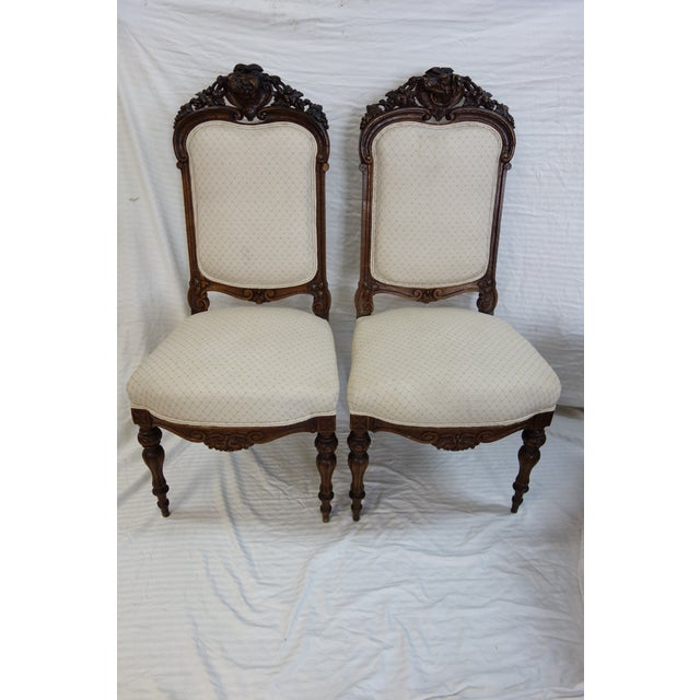 Pair 19th Century Traditional Carved Dog Head Chairs For Sale - Image 13 of 13