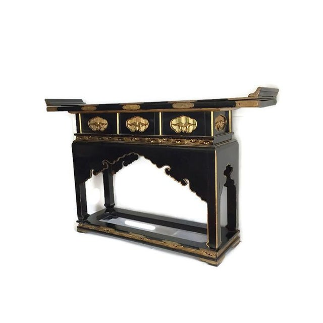 1930's Chinese Temple Table Chinoiserie Console - Image 2 of 10