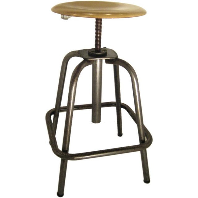 Industrial French Stool - Image 1 of 4