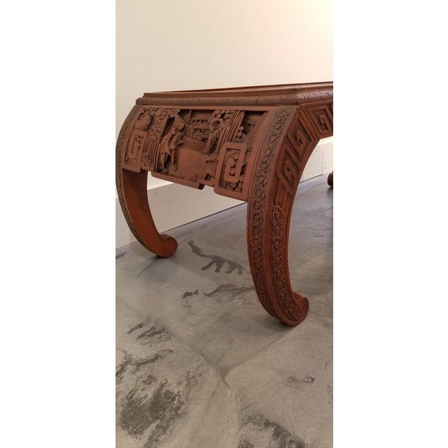 Carved Chinese Coffee Table For Sale In San Francisco - Image 6 of 10