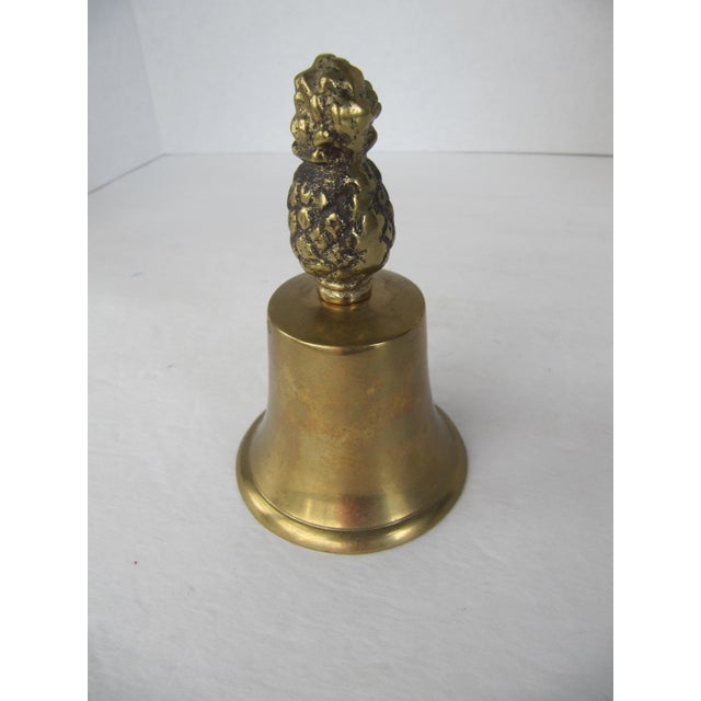 Traditional Brass Pineapple Bell For Sale - Image 3 of 4