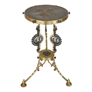 1870 Aesthetic Movement Mixed Metals Side Table