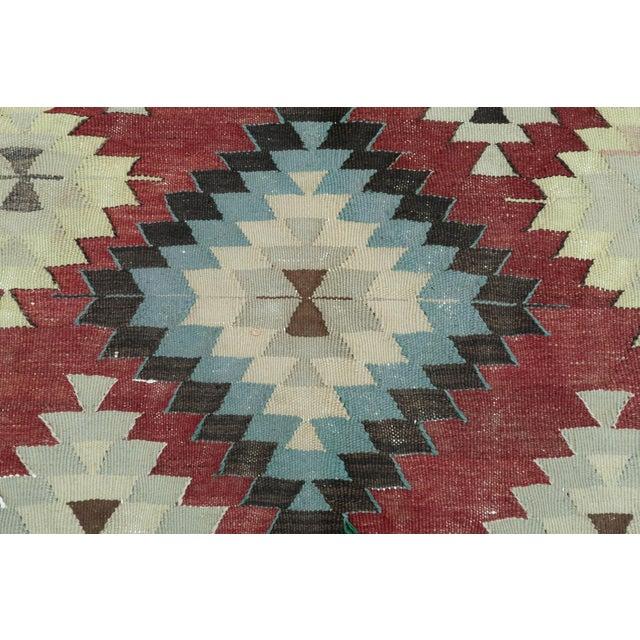 Textile Vintage Turkish Kilim Rug- 5′5″ × 10′ For Sale - Image 7 of 13
