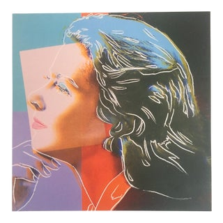 "Andy Warhol Estate Rare Vintage 1989 Collector's Pop Art Lithograph Print "" Ingrid Bergman "" 1983 For Sale"