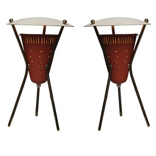 Tripod Bedside Table Lanterns by Disderot - A Pair For Sale